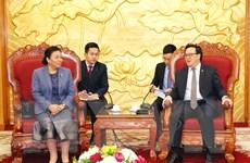 Tăng cường hợp tác giữa hai Ban Đối ngoại Trung ương Việt-Lào