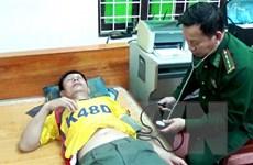 Quảng Bình: Tiếp nhận 12 người của tàu Thành Công 999 chìm trên biển