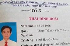 Lai Châu: Trưởng phòng Cảnh sát kinh tế sử dụng bằng giả