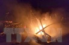 Khống chế thành công đám cháy ở tàu hàng trên biển Vũng Tàu