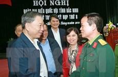 Bộ trưởng Bộ Công an Tô Lâm tiếp xúc cử tri tại tỉnh Bắc Ninh