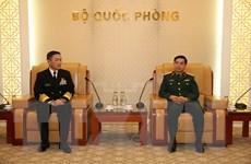 Tổng Tham mưu trưởng QĐND Việt Nam tiếp Tư lệnh Hải quân Nhật Bản