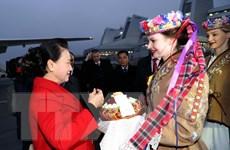 Hình ảnh Chủ tịch Quốc hội bắt đầu thăm chính thức Cộng hòa Belarus