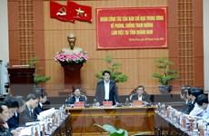 Đoàn công tác về phòng, chống tham nhũng làm việc tại tỉnh Quảng Nam