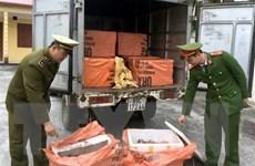 Bắc Giang: Tiêu hủy hơn 1 tấn sản phẩm động vật không rõ nguồn gốc