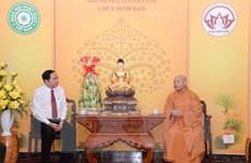 Chủ tịch MTTQ chúc Tết Chủ tịch Hội đồng Trị sự Giáo hội Phật giáo