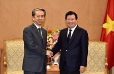 Phó Thủ tướng Trịnh Đình Dũng tiếp Đại sứ Trung Quốc Hùng Ba