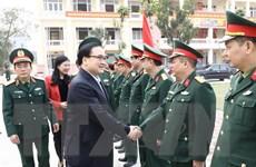 Lãnh đạo Hà Nội thăm, chúc Tết đơn vị công an, quân đội và các giáo xứ