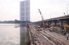 Hà Nội đẩy nhanh tiến độ xây dựng cầu vượt qua hồ Linh Đàm