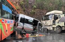 Tai nạn liên hoàn giữa ba ôtô, 1 người chết và 6 người bị thương
