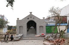 Di tích cầu Ngói chợ Thượng cổ tại Nam Định bị 'làm mới' khi tu sửa