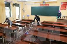 Hà Nội yêu cầu tổng vệ sinh, khử khuẩn trường, lớp đón học sinh