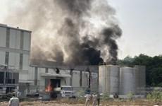 Bình Phước: Cháy kho hóa chất trong khu công nghiệp Nam Đồng Phú