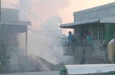 An Giang: Cháy lớn thiêu rụi gần như hoàn toàn 8 căn nhà
