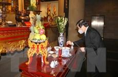 Lãnh đạo Thành phố Hồ Chí Minh dâng hương, dâng hoa Quốc Tổ Hùng Vương