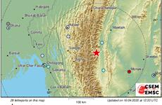 Động đất có độ lớn 5,9 tại khu vực biên giới Myanmar-Ấn Độ