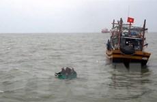 Tàu chở gạo của Indonesia chìm trên vùng biển cửa Định An