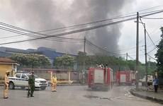 Hà Nội: Đã khống chế được đám cháy tại Khu công nghiệp Phú Thị