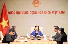 Chủ tịch Quốc hội điện đàm với Chủ tịch Quốc hội Lào Pany Yathotou