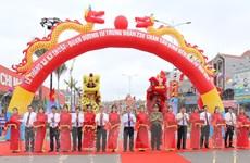 Thông xe kỹ thuật tuyến đường nối Hải Phòng với huyện Thủy Nguyên