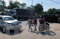 Phú Yên: Tai nạn liên hoàn giữa 3 ôtô gây thiệt hại nặng về tài sản