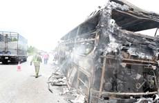 Hành khách may mắn thoát nạn trong vụ cháy xe giường nằm