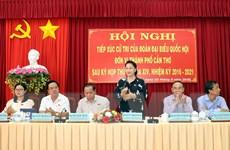 Cần Thơ: Chủ tịch Quốc hội tiếp xúc cử tri tại quận Cái Răng và Ô Môn