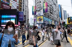 Hong Kong bắt giữ 14 người tụ tập trái phép ở trung tâm mua sắm