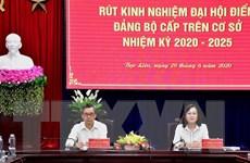 Bạc Liêu: Hội nghị rút kinh nghiệm Đại hội điểm Đảng bộ cấp trên cơ sở
