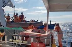 Biên phòng Bà Rịa-Vũng Tàu tiếp nhận 6 thuyền viên bị nạn trên biển