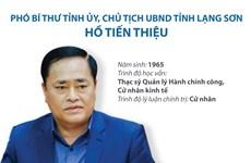 Tiểu sử Phó Bí thư Tỉnh ủy, Chủ tịch UBND tỉnh Lạng Sơn Hồ Tiến Thiệu