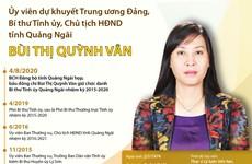 Tiểu sử hoạt động của nữ Bí thư Tỉnh ủy đầu tiên của Quảng Ngãi