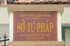 Kỷ luật khiển trách Giám đốc Sở Tư pháp tỉnh Lâm Đồng