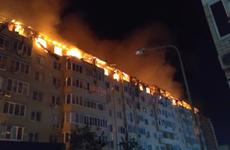 Nga: Cháy lớn tại một tòa chung cư ở thành phố Krasnodar