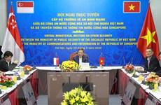 Hội nghị trực tuyến cấp Bộ trưởng về An ninh mạng Việt Nam- Singapore