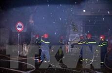 Đồng Tháp: Cháy lớn thiêu rụi hoàn toàn 3 căn nhà của người dân