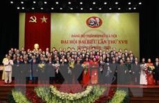Bế mạc Đại hội đại biểu Đảng bộ thành phố Hà Nội lần thứ XVII