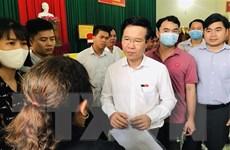 Trưởng ban Tuyên giáo TW Võ Văn Thưởng tiếp xúc cử tri tại Đồng Nai