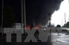 Bắc Giang: Cháy lớn tại công ty nhựa xốp ở khu công nghiệp Vân Trung