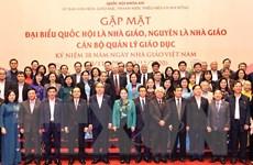 Gặp mặt đại biểu Quốc hội là nhà giáo, cán bộ quản lý giáo dục