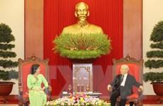 Tổng Bí thư, Chủ tịch nước Nguyễn Phú Trọng tiếp Đại sứ Cuba