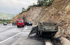 Quảng Ninh: Ôtô đâm vào vách núi khiến 1 người chết, 2 người bị thương