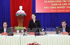 Chủ tịch Quốc hội Nguyễn Thị Kim Ngân thăm làm việc tại tỉnh Quảng Nam