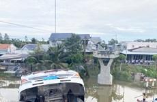 Tiền Giang: Khởi tố lái xe tải chở lúa làm sập cầu dân sinh