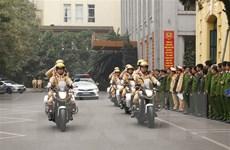 Bộ trưởng Tô Lâm kiểm tra công tác ứng trực bảo vệ Đại hội XIII