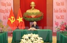 Tổng Bí thư, Chủ tịch nước điện đàm với Bí thư Đảng Cộng sản Cuba