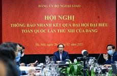 Thông báo nhanh kết quả Đại hội Đảng XIII tới các cán bộ ngoại giao