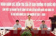 Đoàn Ủy ban Thường vụ Quốc hội kiểm tra bầu cử tại Quảng Trị