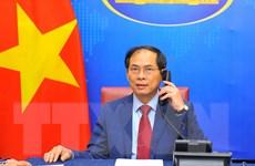 Bộ trưởng Ngoại giao 3 nước điện đàm chúc mừng Bộ trưởng Bùi Thanh Sơn