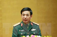 Bàn giao nhiệm vụ Bộ trưởng Bộ Quốc phòng cho tướng Phan Văn Giang